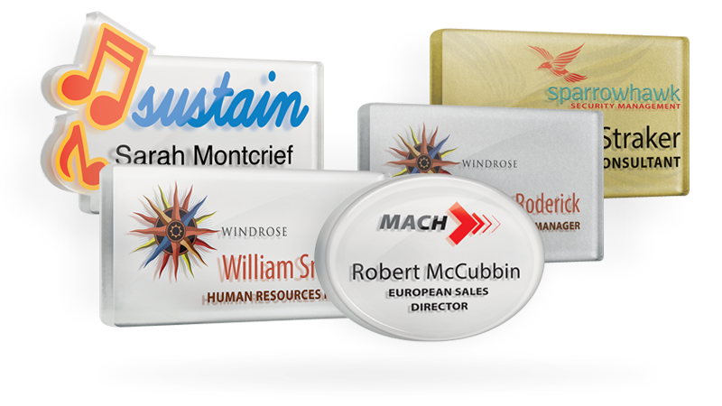 acrylic name badges
