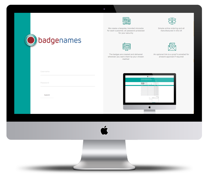 badgenames.co.uk user interface