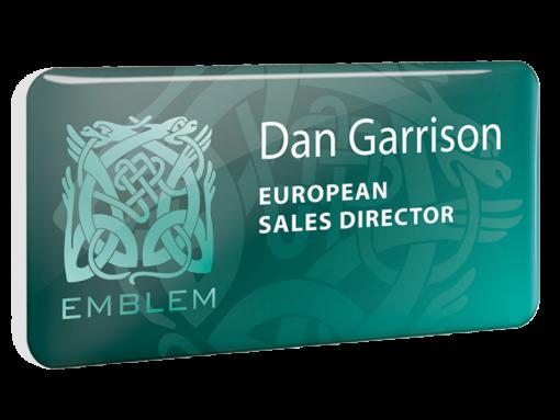 personalised plastic name badge