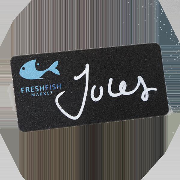 blackboard resusable name badge