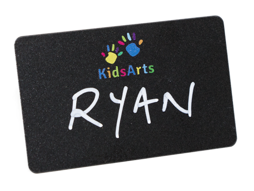 reusable blackboard name badge