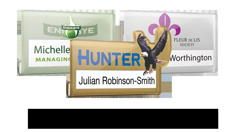 acrylic reusable name badges