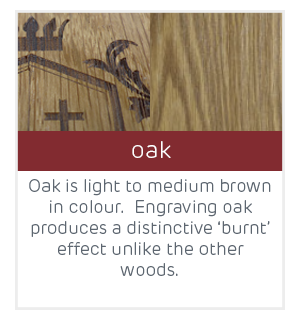 engraved example oak