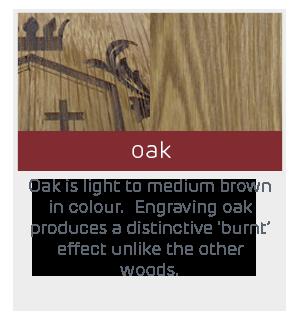 engraved example oak