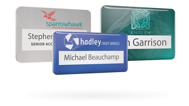 pvc reusable name badges